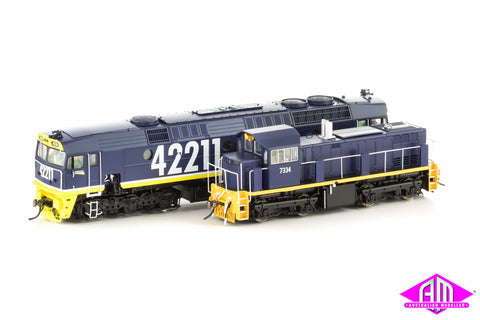 Limited Edition Loco Twin Pack - Freight Rail Blue Livery 7334 & 42211