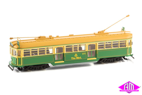 W6 Melbourne Tram 'Green rattler no. 975 The Met' Diecast Static