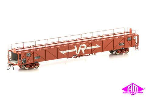 ALX Plain Metal Sided Car Carrier, VR Red with Large VR Logos, 4 Car Pack VCC-2