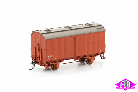 Wooden T Van VR Wagon Red 1960-1972 (6 Car Pack) VFW-17