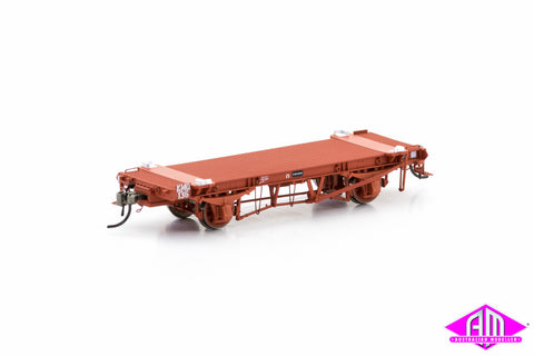 KMQ Container Wagon VR Red Body Version 2 (6 Car Pack) VFW-24