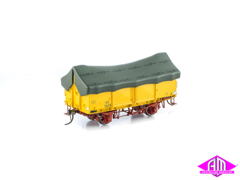 GY Wagon VR Hansa Yellow with Green Tarp 6 Car Pack VFW-34