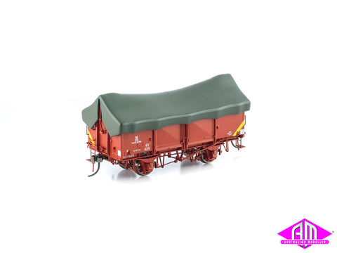 GY Wagon VR Wagon Red with Green Tarp 6 Car Pack VFW-37