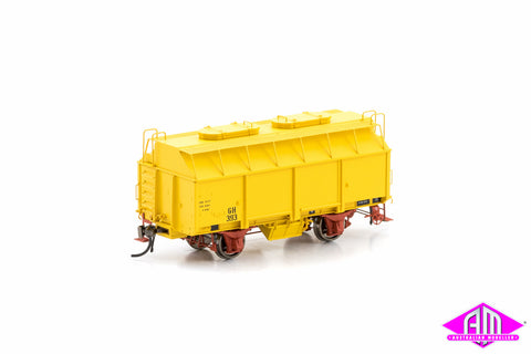 GH Grain Wagon with 2 Roof Hatches, Hansa Yellow, 6 Car Pack VFW-79