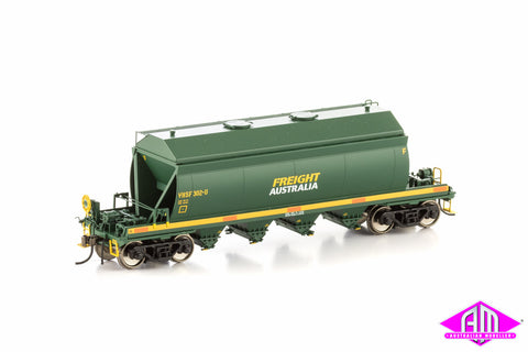 VHSF Sand Hopper, Green & Yellow with Large Freight Australia Logo, 4 Car Pack VHW-15