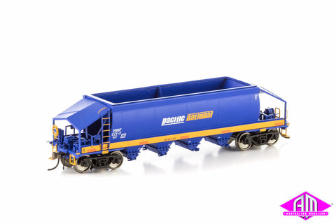 VHQF Quarry Hopper, Blue & Yellow with Pacific National Logo, Single Car VHW-26