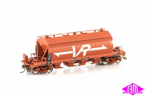 JCF Cement Hopper, Wagon Red with Large VR Logo, 4 car pack VHW-6