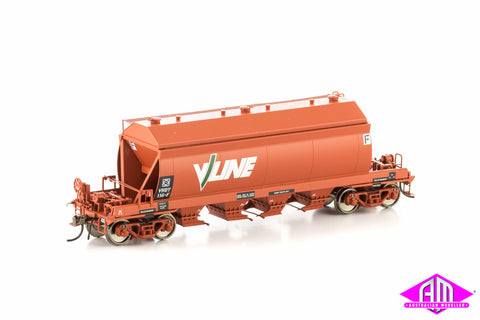 VHCX Cement Hopper, Wagon Red with V/Line Logo, 4 Car Pack VHW-7