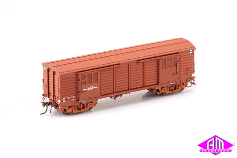 VP Louvre Van VR Wagon Red with Small VR Logo & BX Bogies - 2 Car Pack VLV-39