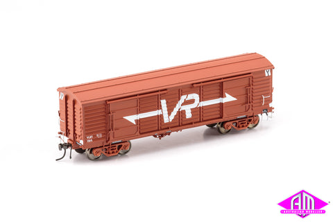 VP Louvre Van, VLBY Louvre Van, VR Wagon Red with Large VR Logo & Super Service Bogies - 2 Car Pack VLV-44