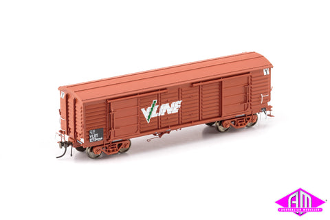 VP Louvre Van, VLBY Louvre Van, VR Wagon Red with V/Line Logo & Super Service Bogies - 2 Car Pack VLV-47