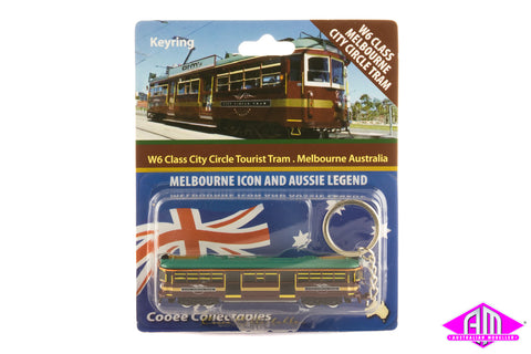 W6 Melbourne City Circle Tram (N Scale Keyring)