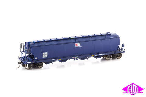 Grain Hopper AWB WGBY STANDARD GAUGE, DARK BLUE, AS BUILT circa 2009 - CURRENT (WGB03) 3pk