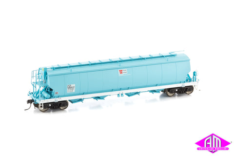 Grain Hopper AWB WGBY STANDARD GAUGE, FADED DARK BLUE, WHITE SILLS, circa 2009 - CURRENT (WGB07) 3pk
