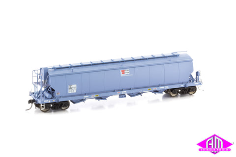 Grain Hopper AWB WGSY STANDARD GAUGE, FADED DARK BLUE circa 2010 - CURRENT (WGS08) 3pk
