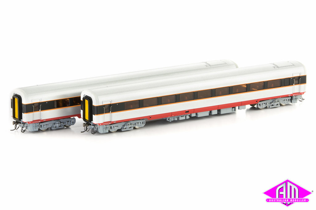 XPT Passenger Car Add on Set State Rail Authority Livery 2 Car Pack XPT-11