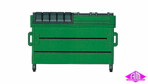 HI-8002 Trash Dumpsters Green /3