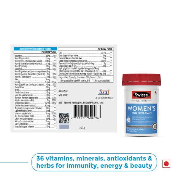 Swisse Women's Multivitamin 60 tablets