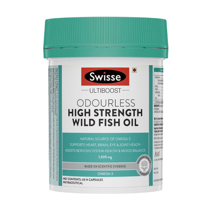 Swisse High Strength Wild Fish Oil 1500Mg 60 Capsules