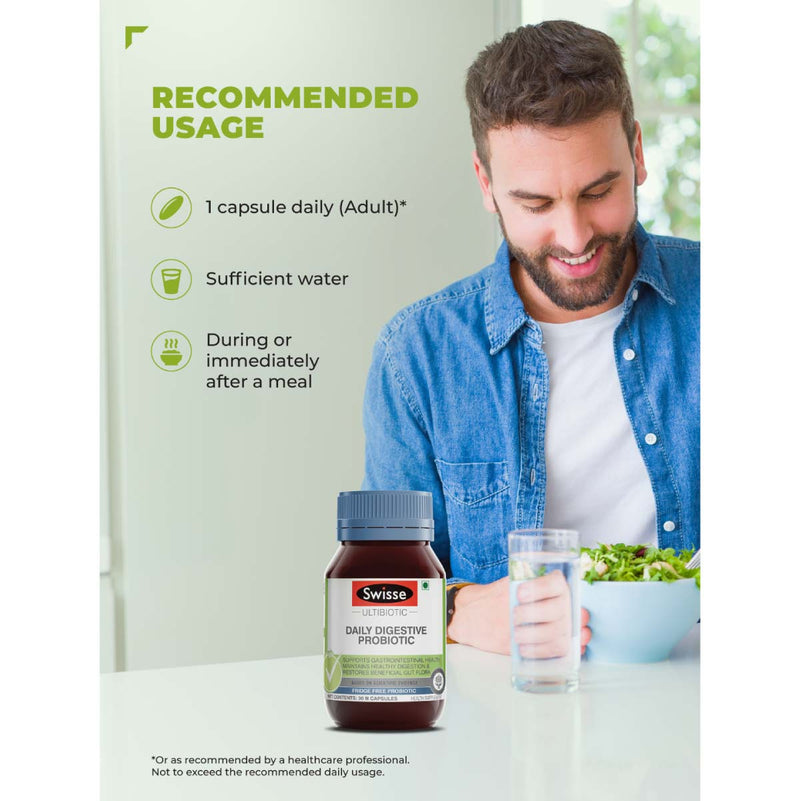 Swisse Daily Digestive Probiotic 30 Capsules