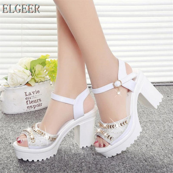 Designer 2020 new sexy fashion women's sandals summer diamond fish mouth muffin platform High heels casual slippers womens shoes
