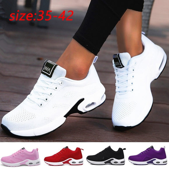 Damyuan Lightweight Women's Sneakers  Running Shoes Outdoor Sports Shoes Breathable Mesh Shoes Comfortable Air Cushion Shoes 42