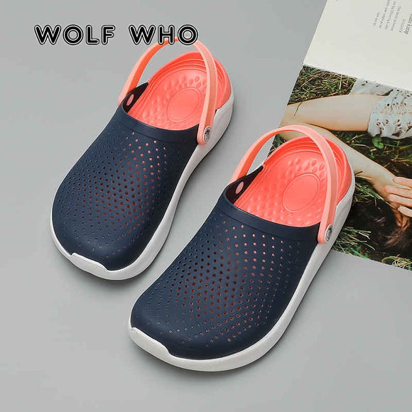 Women's Sandals 2020 Casual Crocks Clogs Unisex Breathable Beach Sandals Summer Slip on Jelly Shoes for Women Slippers Mules X13
