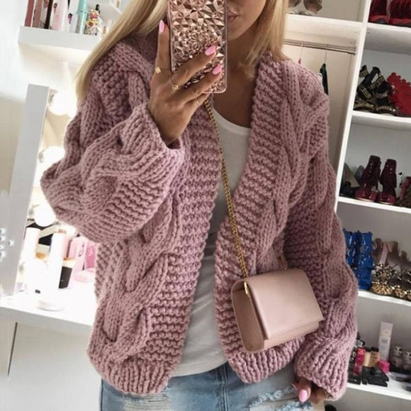 Cardigan Women's Sweaters 2020 Autumn and Winter Casual Knitted Sweater Women's Clothing DE05