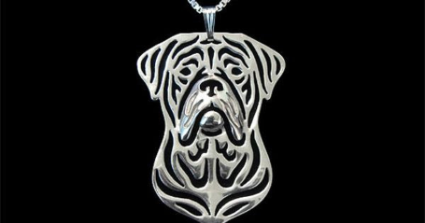 Stainless Steel American Bulldog • Mastiff Necklace