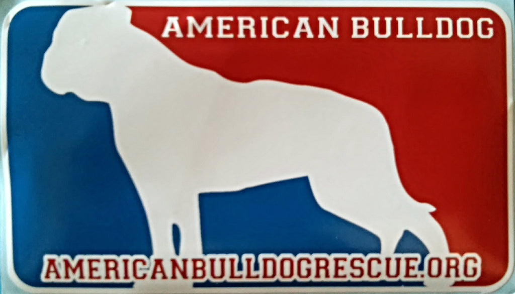Red, White, and Blue American Bulldog Decal
