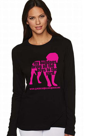 My Bulldogs Bring All the Boys Ladies Long-Sleeved TShirt