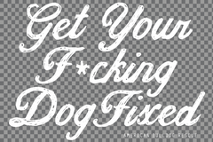 Fix Your Dog Car Decal - Clear Background