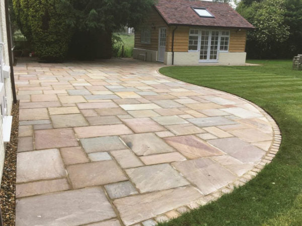 Indian Sandstone edging cobbles setts Hampshire