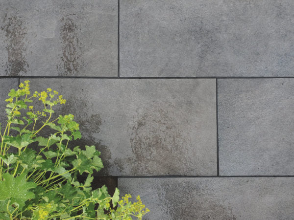 Porcelain paving Black paving Piatto Black Miles Stone Eastleigh Modern black porcelain paving anti-slip