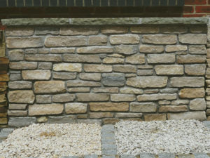 Purbeck cropped walling stone split faced natural organic stone walling