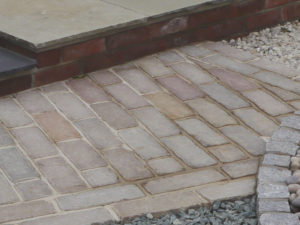 Indian Sandstone tumbled paving setts edging cobbles driveway paths
