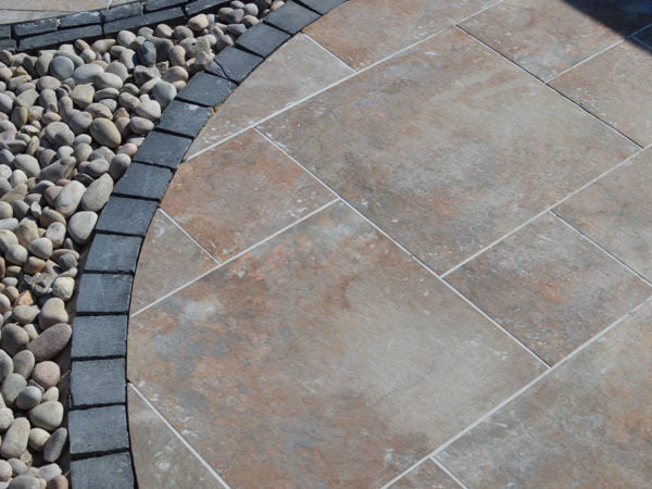 Acton Rust Modular Porcelain Paving