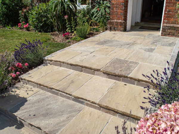 Premium New Quarried Riven York Paving Flagstones