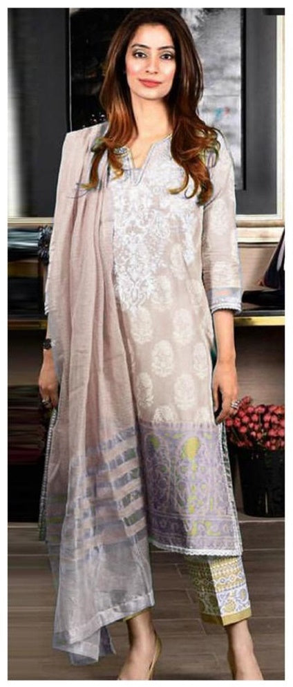 MARIA B EMBROIDERED LAWN 3PC -GA1099