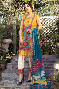 MARIA B EMBROIDERED LAWN 3PC -GA10056