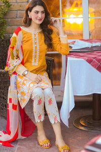 MARIA B EMBROIDERED LAWN 3PC-GA90691