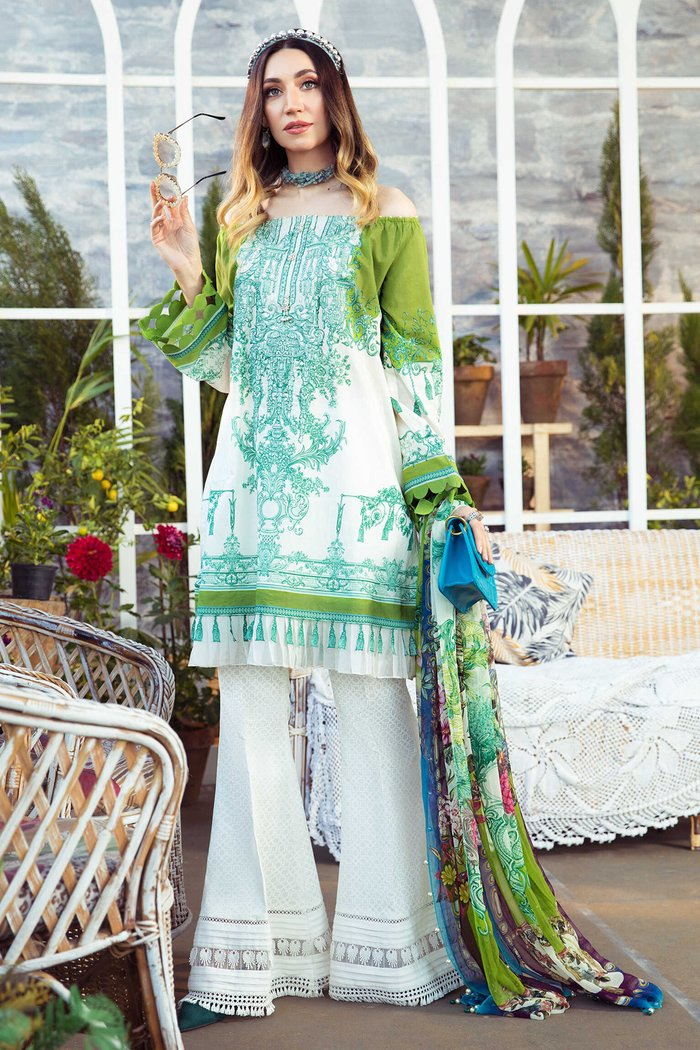 MARIA B EMBROIDERED LAWN 3PC -GA10054