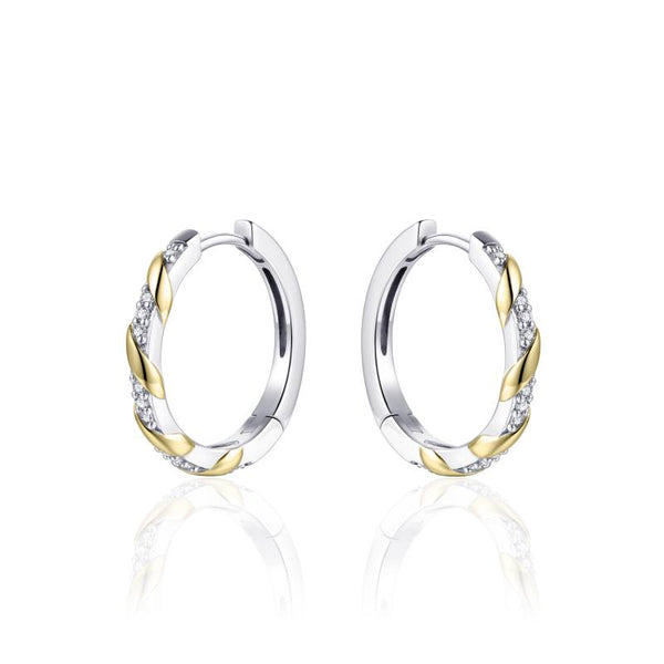 TWISTED TWO-TONE EARRINGS