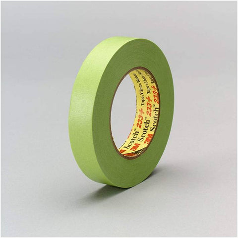 3M Scotch 26336 24 mm x 55 m 233+ Crepe Paper Masking Tape, 250 Degree F Performance Temperature
