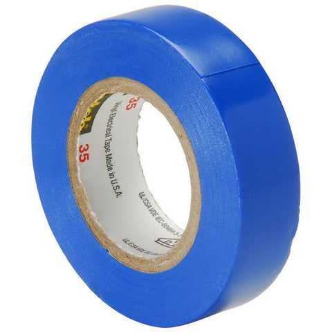 3M Scotch 35 Vinyl Color Coding Electrical Tape, 1/2 in x 20 ft