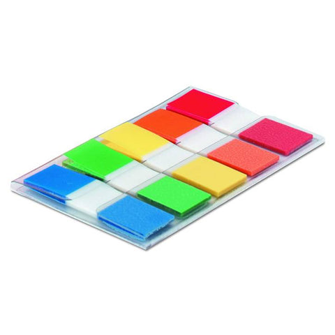 3M 683-5CF Post-it Page Flags in Portable Dispenser, Assorted Primary, 20 Flags/Color