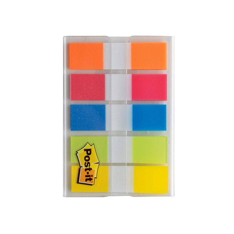 3M 683-RIO2 Post-it Page Flags with On-the-Go Dispenser, Rio de Janeiro Collection, 20 Flags/Color