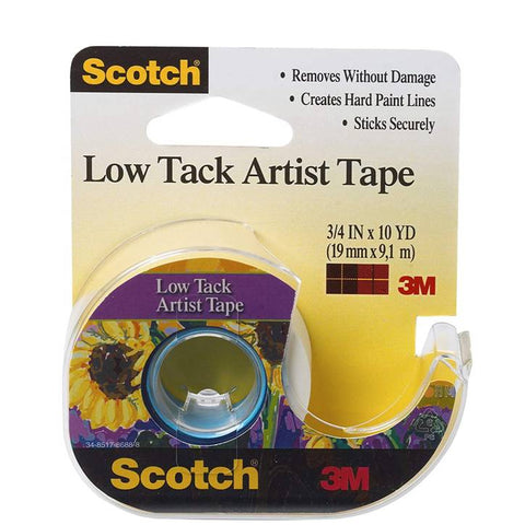 3M FA2020 Scotch Low Track Artist Tape for Canvas, 3/4 in x 10 yard