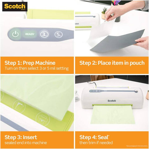 3M TP3855-20 Scotch Thermal Laminating Pouches, 3 mil, 8.5