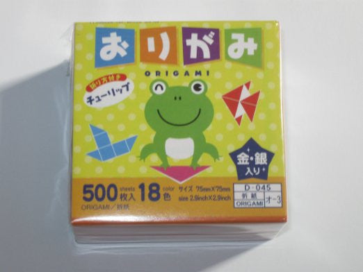500s Origami Paper (3 Inch Square, One Sided)